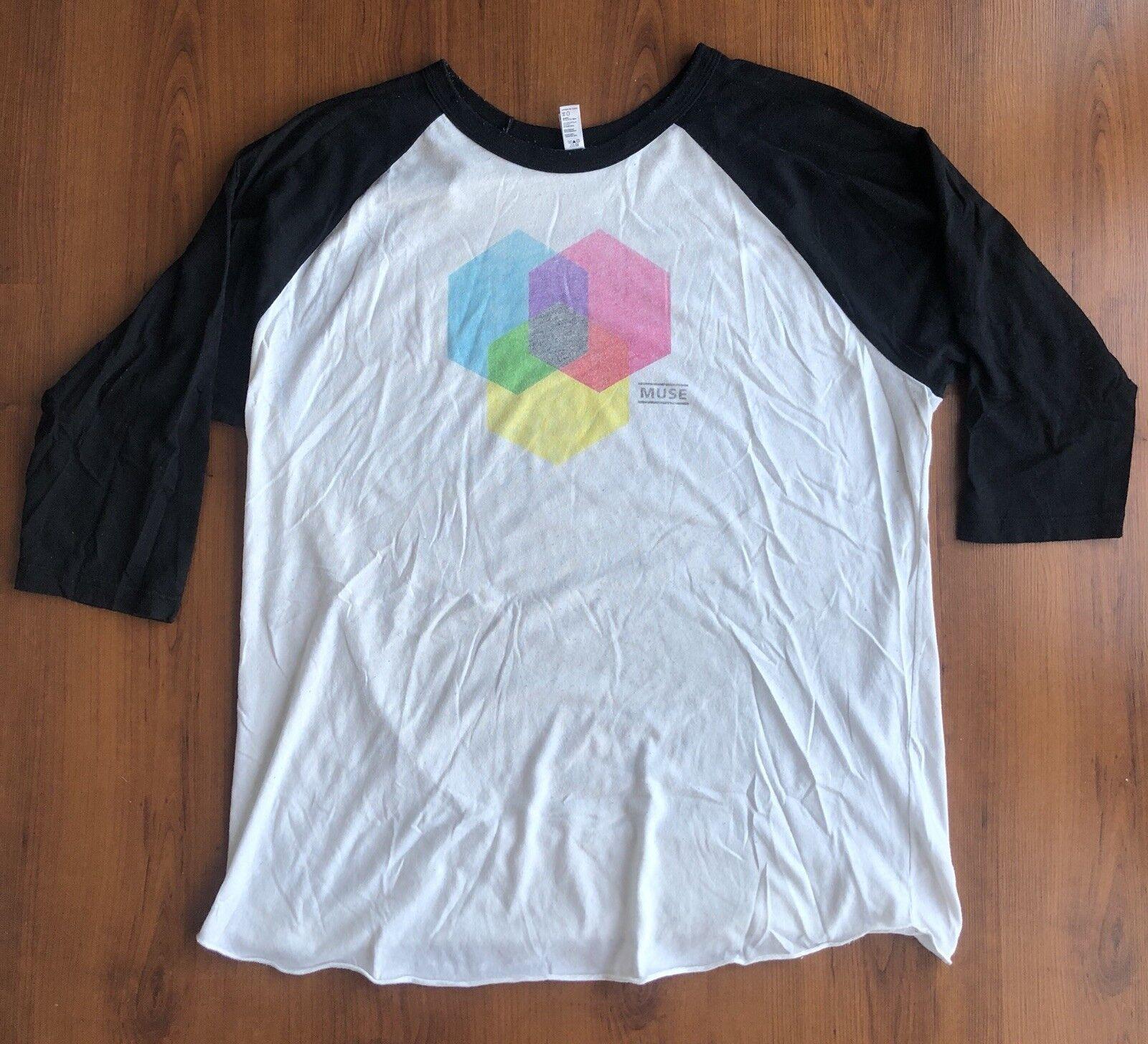 Rare vintage Muse baseball sleeved concert T-shirt - XL- The Resistance Tour