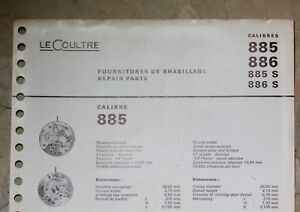 Original-vintage-parts-guide-to-Jaeger-Lecoultre-calibers-885-886-885S-886S