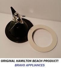 Original Hamilton Beach Black Commercial Blade 98908 & White Premium Gasket NEW!