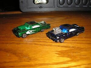 Nice-Lot-of-2-Different-RC-1960-Chevy-Impala-Bel-Air-Pro-Street-Lowriders