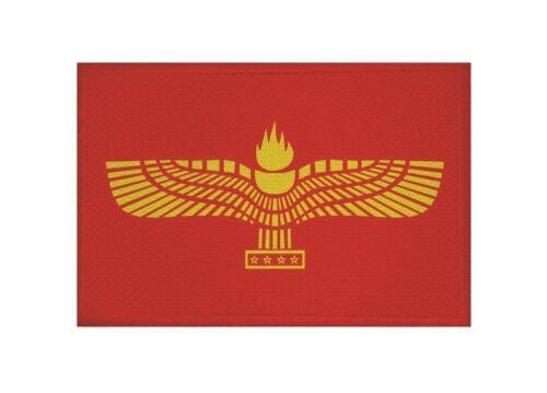 Ricamate aramäer bandiera bandiera aufbügler Patch 9 x 6 cm