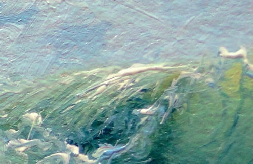 "367-5/""x 7/"" CANVAS FINE ART PRINT SEASCAPE MESH STORM Surf Black Sea WAVE Marine"
