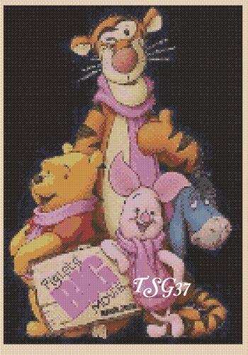 No 353b.TSG37 ....... disney Wiinnie the Pooh No.1 Cross Stitch Chart