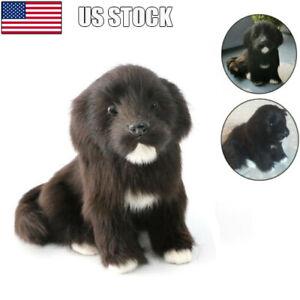 Realistic-Black-Dog-Puppy-Pet-Simulation-Stuffed-Animal-Cuddly-Doll-Toy-USA