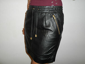 NEW-WOMAN-039-S-LADIES-FULLY-LINED-100-SOFT-BLACK-LEATHER-SKIRT-SIZE-8-TO-18