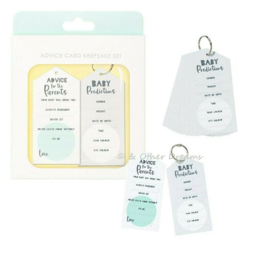 Prediction Cards Activity Game Keepsake 20 Born To Be Loved Baby Shower Advice