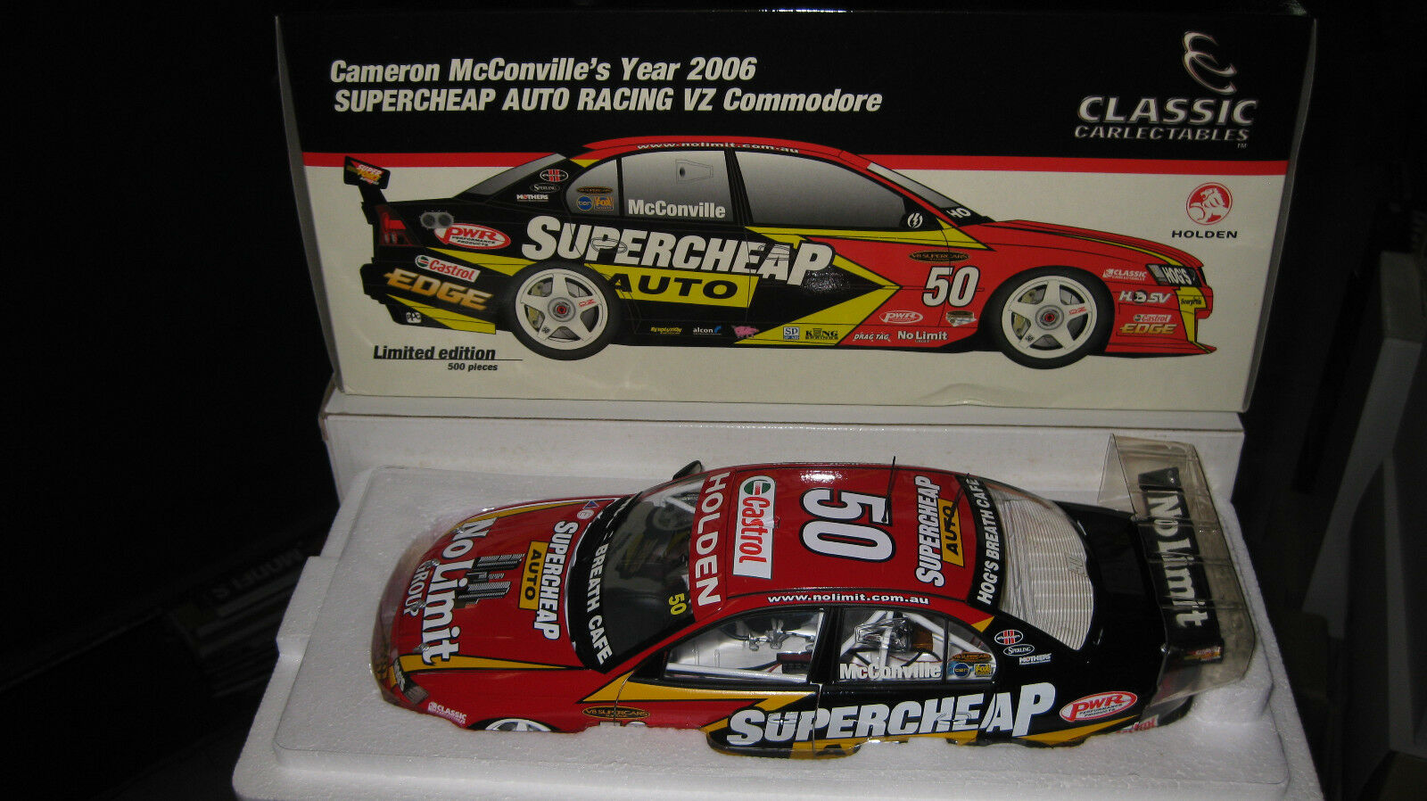 1 18 CLASSIC CAMERON Mc CONVILLE SUPERCHEAP RACING 2006 VZ COMMODORE
