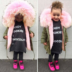 2cb53d829 Toddler Baby Girl Boy Thick Cotton Hooded Jacket Warm Fashion Winter ...