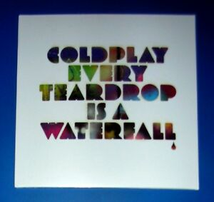 COLDPLAY-Every-Teardrop-is-a-Waterfall-7-034-Vinyl-Ghost-preorder-cards-flyers