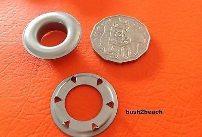 SP9 GROMMETS EYELETS STAINLESS STEEL x 10 MARINE GRADE INC POSTAGE