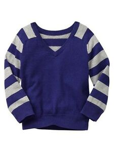 9c6c86b23 Baby GAP Boy Girl Striped V-neck Purple Sweater Pullover 12 18 mo ...