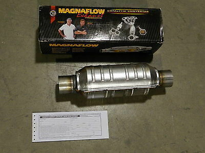 "New Magnaflow 2.25/"" Inlet//Outlet Universal Catalytic Converter 99305HM Cat"