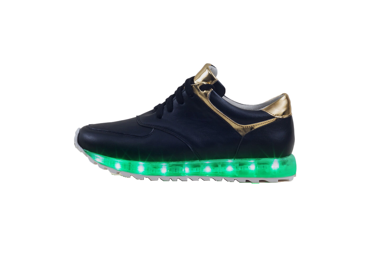 MO68 Colossal Women LED Light Up Low Top Fashion Sneakers Black