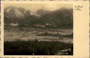 OBERSTDORF-Allgaeu-Bayern-1935-Fernansicht-mit-Alpen-Panorama-alte-AK-Dt-Reich