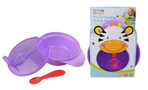First Steps Travel Feeding Bowl Spoon Set Food Weaning Self Feeding BPA Free