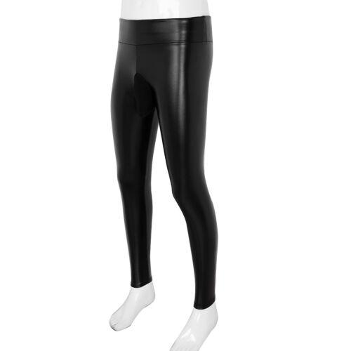 Men Faux Leather Legging Tight Wetlook Pants Stretch Trousers Clubwear Underwear