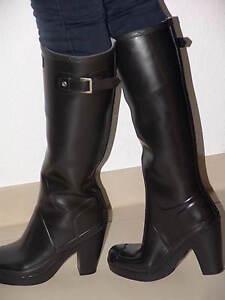 hunter high heels gummistiefel gr 39 echte sammlerst cke wellies rubber boots ebay. Black Bedroom Furniture Sets. Home Design Ideas