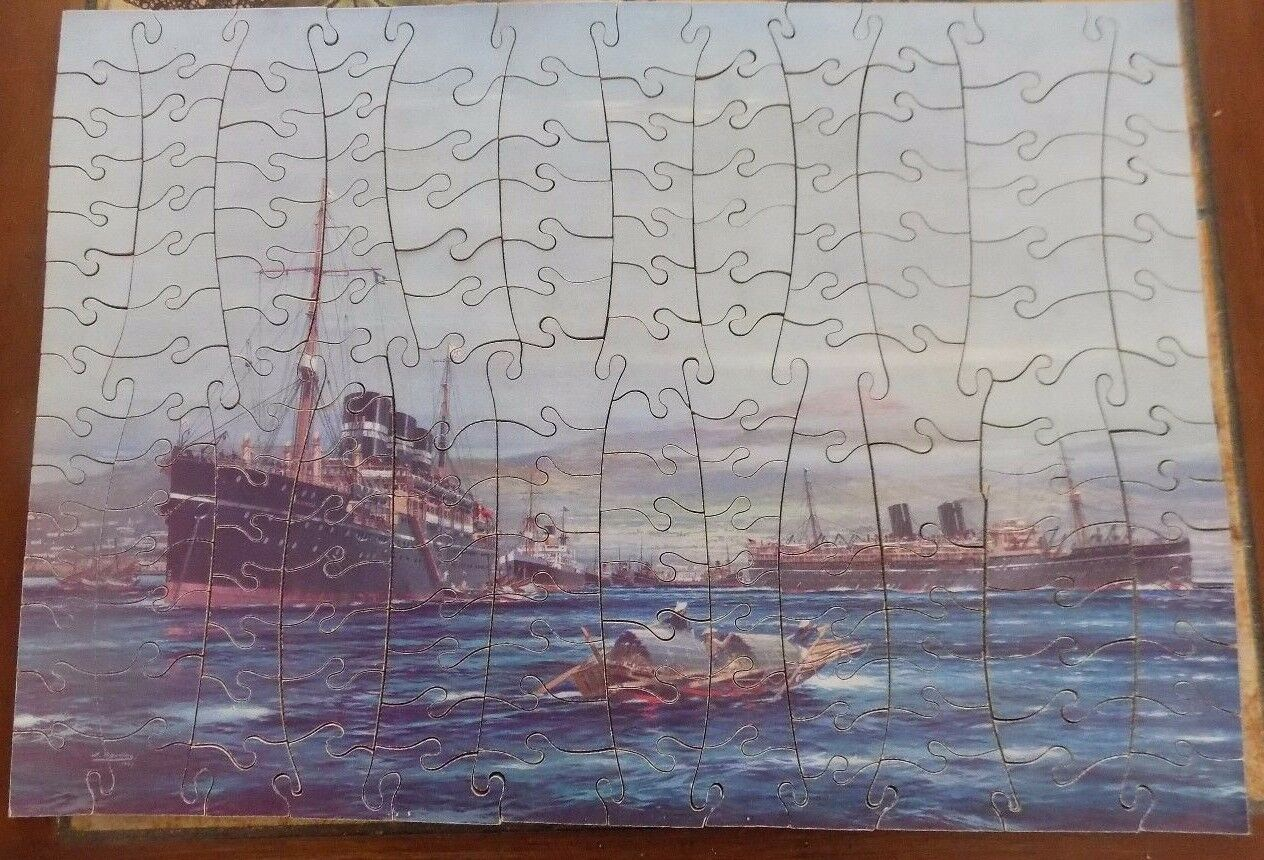 BRITISH INDIA STEAM NAVIGATION CO.LTD  JIGSAW PUZZLE  BY CHAD VALLEY COMPLETE