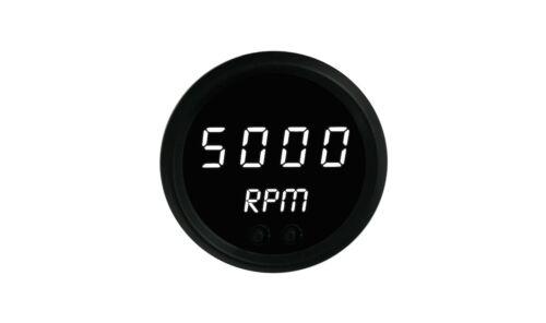 "2 1//16/"" Digital Tachometer White LED Gauge Black Bezel Made In The USA"