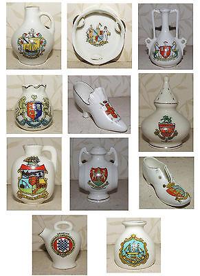 Crestado Ware diversos jarras jarrones Zapato Tamborine Pomander barril