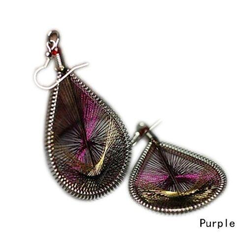 Trendy Elegant Cute Peacock tail wire Gold thread Ear Stud Earrings Jewelry