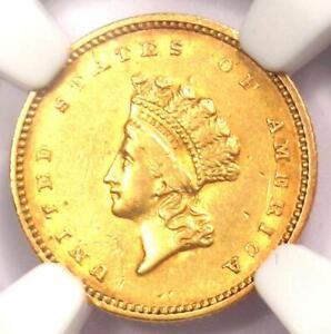 Indian Gold Dollar G 1 Coin Ngc Au