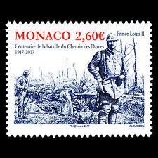 "Monaco 2017 - World War I ""100th Anniv. of the Second Battle of Aisne - MNH"