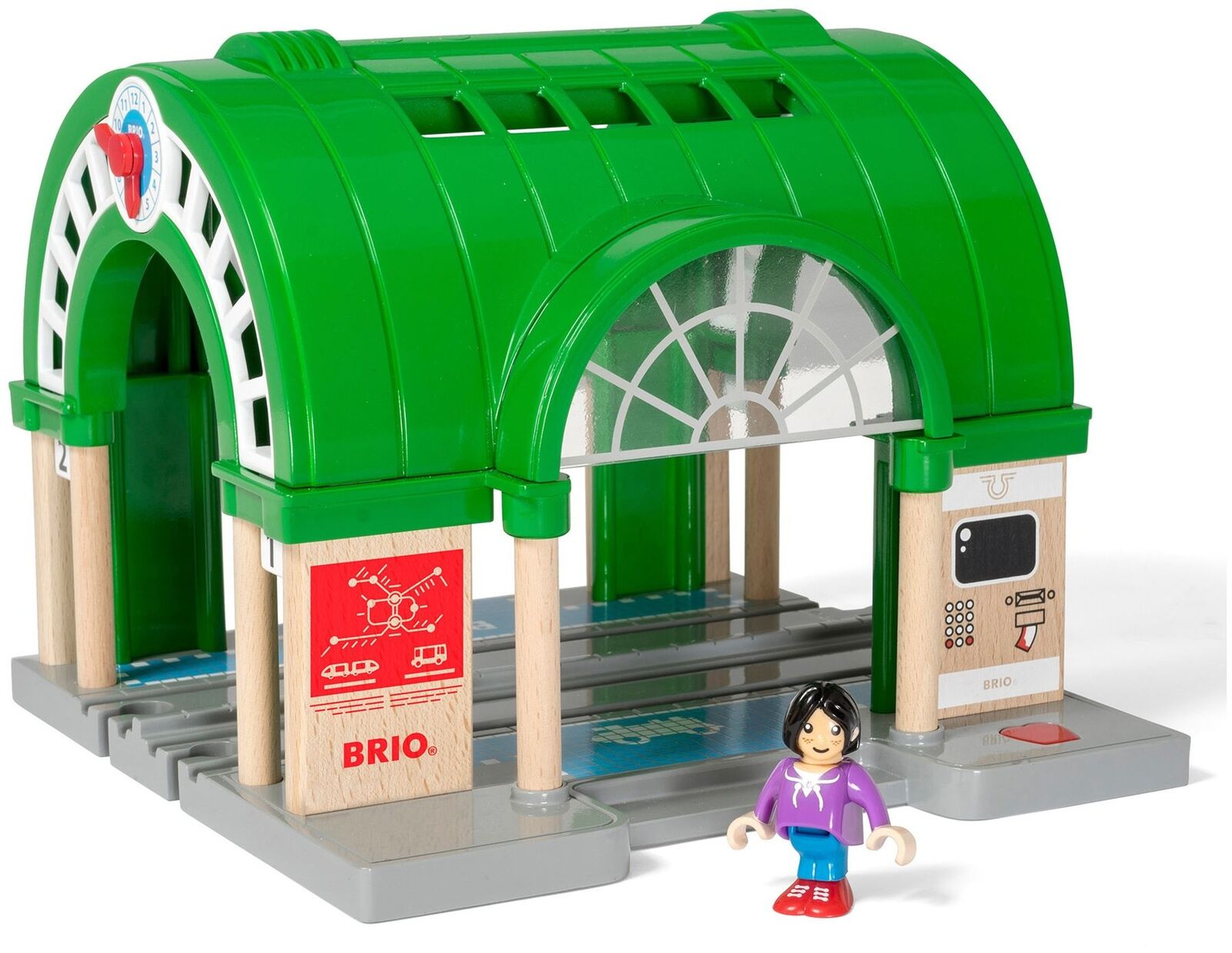 Brio CENTRAL CENTRAL CENTRAL TRAIN STATION Wooden Toy Train BN aa8d6b