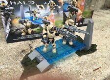 Halo Mega Bloks Set #CNK25 UNSC Fireteam Rhino Figure #1 & 3 With Background!!