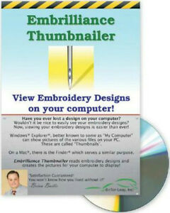 Embrilliance Thumbnailer Pre-View Machine Embroidery Designs Software Win /& Mac