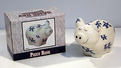 NCAA Kentucky Wildcats Piggy Bank with All Over Logo UK