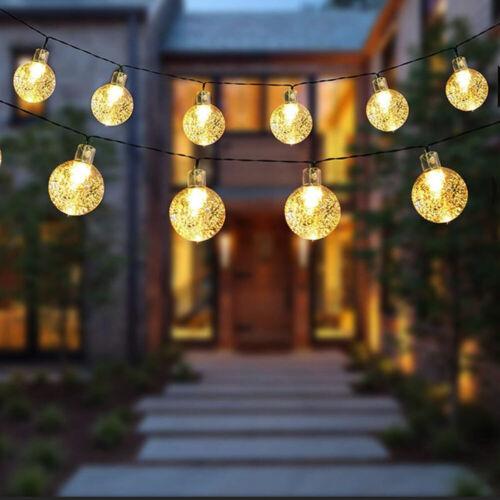 20//30LED Crystal Ball Light Fairy String Light Outdoor Yard Durable Fairy Light