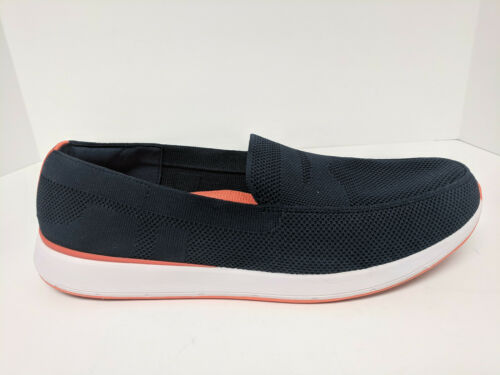 Swims Breeze Wave Penny Loafer, Navy/Orange, Mens