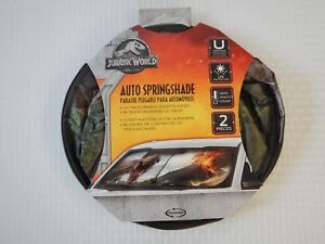 Jurassic Park World T-Rex Dinosaur 2 Piece Windshield Sun Shade ... 9b3a317ac01