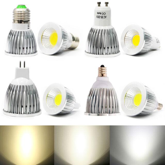 Ultra Brillant MR16/GU10/E27/E12 LED COB Ampoules Dimmable Spotlight 6W 9W 12W L