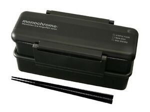 New-MEN-039-S-Tight-BENTO-Lunch-Box-Microwave-OK-850ml-with-Chopstick-Black-Japan