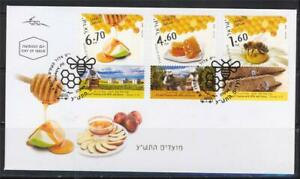 ISRAEL-FESTIVALS-2009-HONEY-BEES-3-STAMPS-ON-IPA-FDC-FAUNA