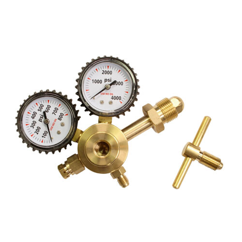 BISupply Nitrogen Regulator HVAC Kit 1//4 IN Outlet Nitrogen Regulator Gauges