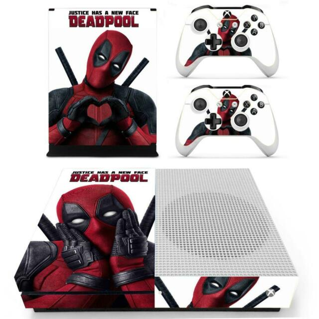 Xbox One S Slim Console Controllers Skin Deadpool Marvel Vinyl Decals Stickers