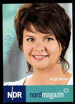 100% Wahr Birgit Müller Ndr Autogrammkarte Original Signiert ## Bc 37754 Gutes Renommee Auf Der Ganzen Welt