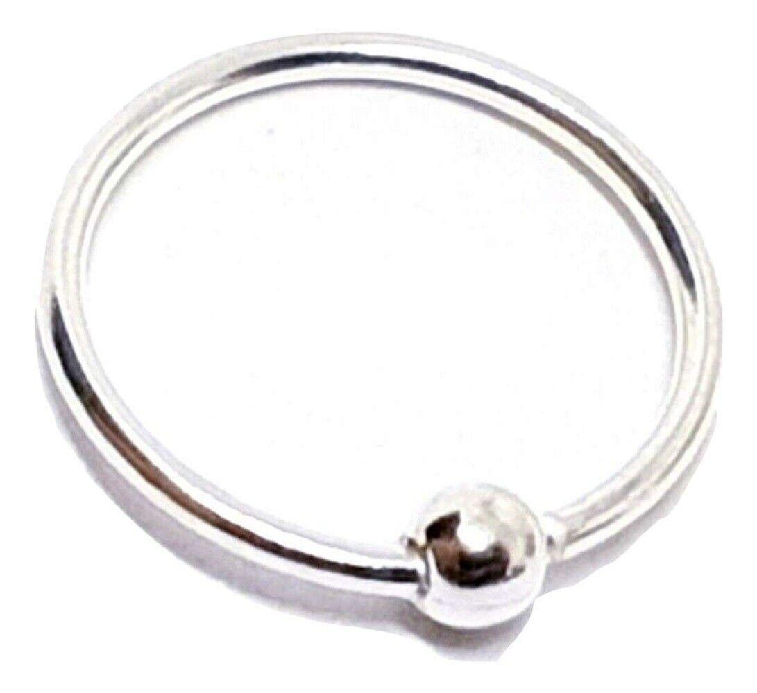 Nose Ring Piercing 10mm Sterling Silver 20g 0 8mm Cbr Bcr Ball Fix
