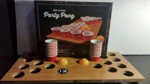 Mini Portable Folding Beer Pong Mini Folding Game board 20 cups Brand New