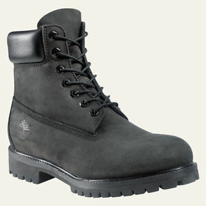 timberland 6 inch mens black