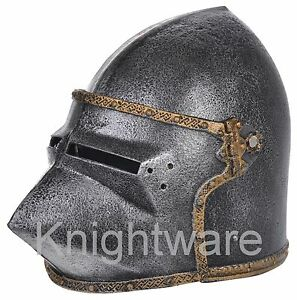 Image is loading Knight-Helmet-Toy-for-Kids-Medieval-Knight-costume-  sc 1 st  eBay & Knight Helmet Toy for Kids. Medieval Knight costume accessory ...