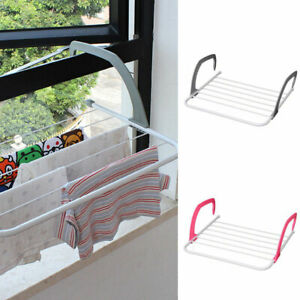 Radiator Towel Clothes Folding Airer Dryer Drying Rack 5