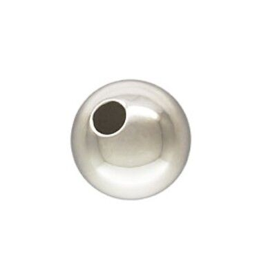 925 Sterling Silver 5mm Seamless Round Spacer Beads 20pcs #5101-5