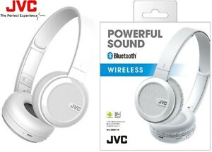 JVC HA-S40BT WHITE Wireless Foldable On-Ear Headphone with Bass ... 3672045450