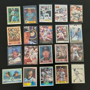 20-Card-Robin-Yount-Lot-1981-Donruss-83-Topps-TL-More-Brewers-lot-7-1