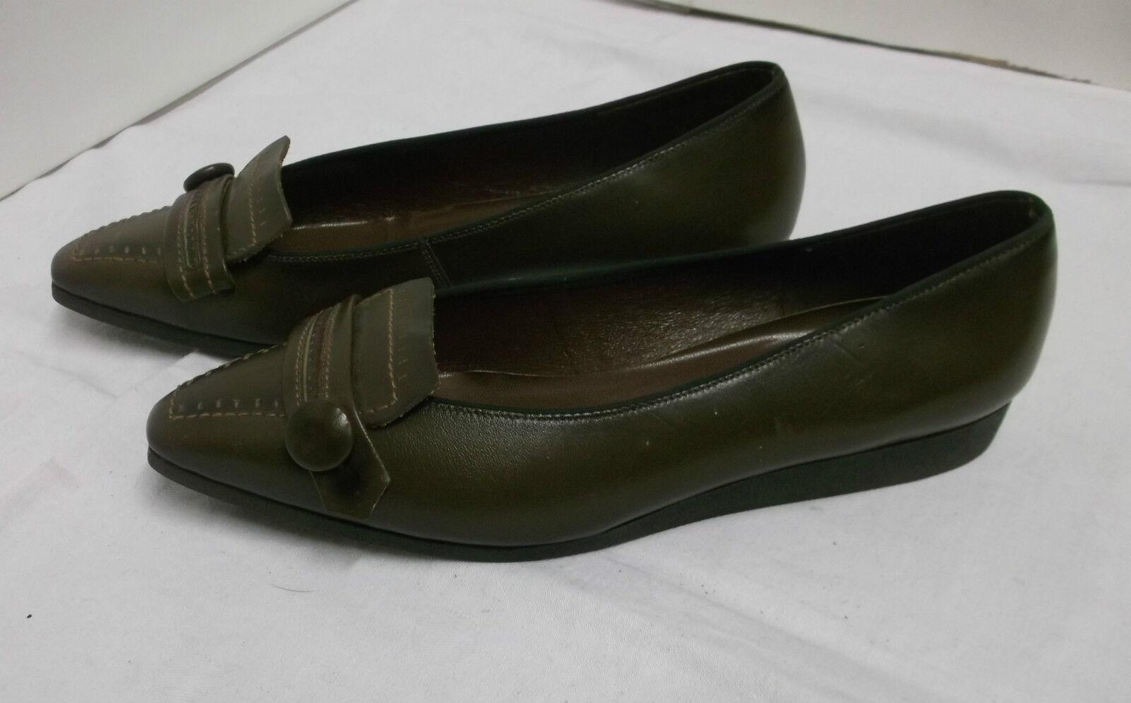 60er NOS Scarpe da Donna Marronee Ballerina mattil GERMANY TG. 35,5 VINTAGE scarpe 60s