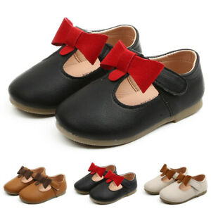 Toddler-Kids-Baby-Girls-Leather-Bowknot-Party-Princess-Shoes-Sandals-Boot